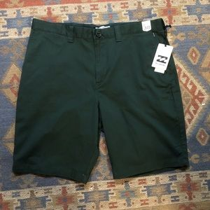 Billabong Carter Stretch Dark Green Shorts 38